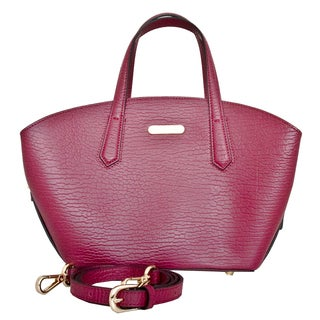 Orta - Leatherbay Tote Bag / Wine Red
