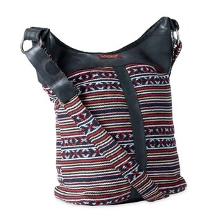 Handmade Cotton and Recycled Tire Shoulder Bag (Nepal)