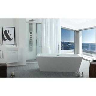 "Virtu USA Serenity 63"" Freestanding Soaking Bathtub Only"