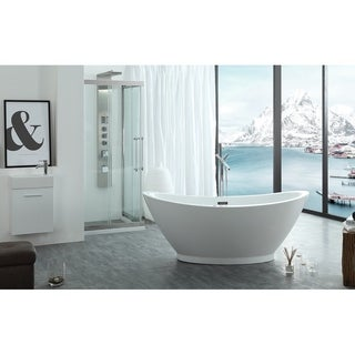 "Virtu USA Serenity 69"" Freestanding Soaking Bathtub Only"