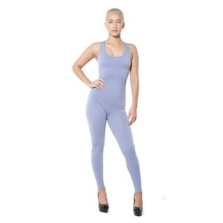 Women's One Racer Back Body Suit cat suit body con tank top One Strechable Size Fits All (Option: Blue)