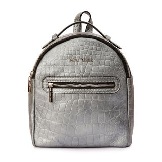Women's Leather Backpack (Metalic) - m