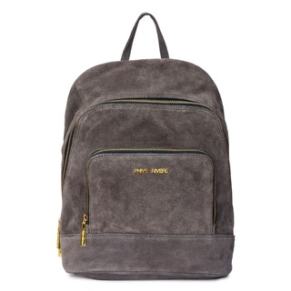 Women's Leather Backpack (Grey) - M