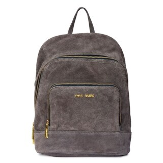 Handmade Phive Rivers Women's Grey Suede Leather Mini Backpack (Italy)