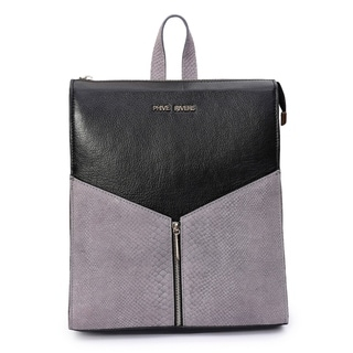 Women's Leather Backpack (Black) - M