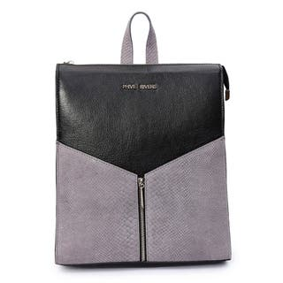 Women's Leather Backpack (Black) - M|https://ak1.ostkcdn.com/images/products/17417631/P23653644.jpg?impolicy=medium