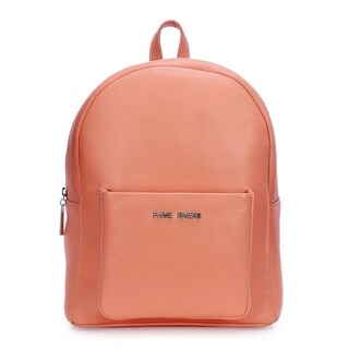 Women's Leather Backpack (Coral) - M
