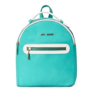 Women's Mini Seagreen Leather Backpack (Italy)