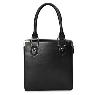 Phive Rivers Women's Leather Handbag (Black)|https://ak1.ostkcdn.com/images/products/17417669/P23653698.jpg?impolicy=medium