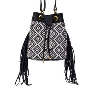 Phive Rivers Women's Jacquard Fabric Crossbody Bag (Blue) https://ak1.ostkcdn.com/images/products/17417670/P23653701.jpg?impolicy=medium