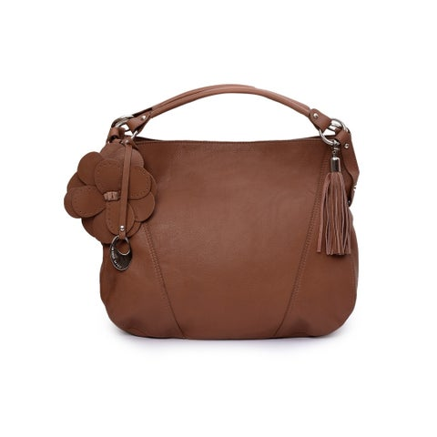 Phive Rivers Women's Leather Handbag (Dark Tan) - One size