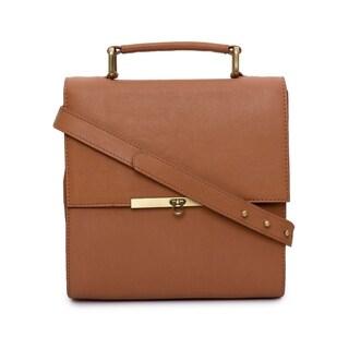 Phive Rivers Women's Leather Crossbody Bag (Tan)