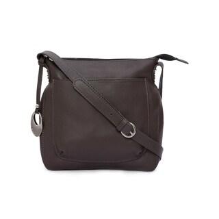 Phive Rivers Women's Leather Crossbody Bag (Dark Grey)