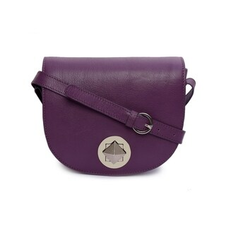 Phive Rivers Women's Leather Crossbody Bag (Purple)