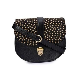 Phive Rivers Women's Leather Crossbody Bag (Black)