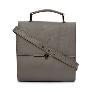 Phive Rivers Women's Leather Crossbody Bag (Grey)|https://ak1.ostkcdn.com/images/products/17417712/P23653713.jpg?impolicy=medium