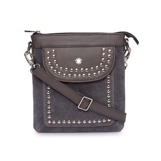 Phive Rivers Women's Leather Crossbody Bag (Grey)