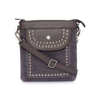 Phive Rivers Women's Leather Crossbody Bag (Grey)|https://ak1.ostkcdn.com/images/products/17417713/P23653714.jpg?impolicy=medium
