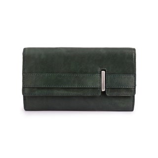 Phive Rivers Women's Leather Wallet (Dark Green) - One size