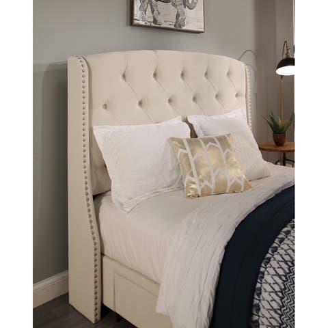 Republic Design House Peyton Ivory or Grey Tufted Upholstered HB Only