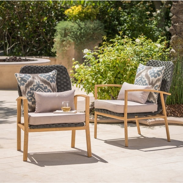 Patio Furniture San Luis Obispo: Shop San Luis Outdoor Wicker Club Chair With Cushions By