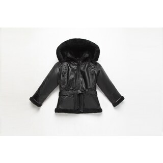 Girls Fully Lined B3 Leather Bomber Jacket