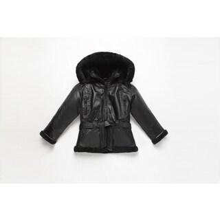 Girls Fully Lined B3 Leather Bomber Jacket