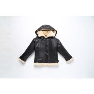 Boy's Fully Lined B3 Leather Bomber Jacket