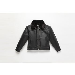 Wilda Kid's Leather Bomber Jacket