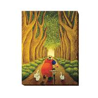 Home from the Market by Lowell Herrero Gallery-Wrapped Canvas Giclee Art