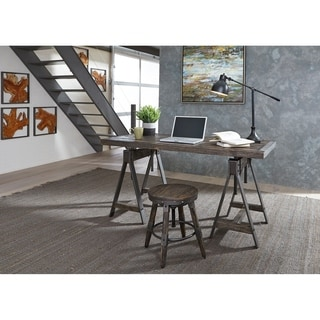 Liberty Pineville Charcoal 2-piece Dinette or Desk Set With Saw Mark Distressed Finish