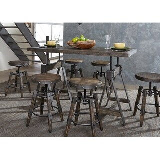 Pineville Charcoal Saw Mark Distressed Adjustable 5 Piece Dinette Set