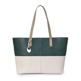 Women's Leather Tote Bag (White) - WHITE