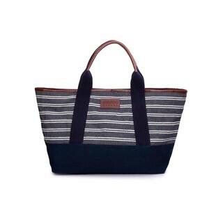 Women's Jacquard Fabric Tote Bag (Blue) - BLue