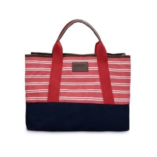 Women's Jacquard Fabric Tote Bag (Red) - RED https://ak1.ostkcdn.com/images/products/17429664/P23664216.jpg?impolicy=medium