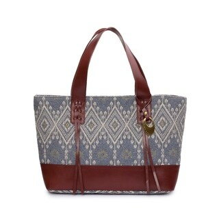 Women's Jacquard Fabric Tote Bag (Grey) - grey