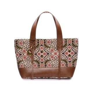 Women's Jacquard Fabric Tote Bag (Multicolor) - Multi Color