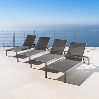 Cape Coral Outdoor Aluminum Chaise Lounge (Set of 4) by Christopher Knight Home https://ak1.ostkcdn.com/images/products/17429685/P23664220.jpg?impolicy=medium