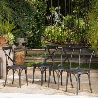 Link to Danish Outdoor Farmhouse Dining Chair (Set of 4) by Christopher Knight Home Similar Items in Patio Dining Chairs