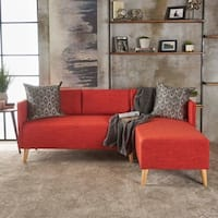 Shop Mid Century Modern Small Space Sectional Sofa With