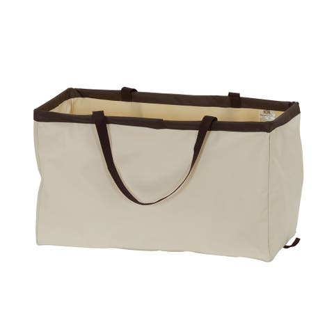 KRUSH CONTAINER Rectangle Tote Bag, Classic with Brown Trim