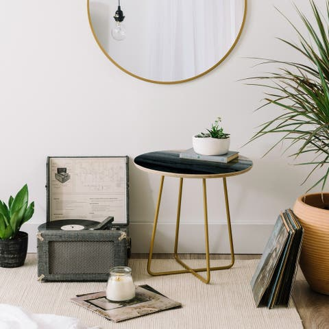 Deny Designs Within Tides Stormy Grey Side Table (Round or square, 2 leg options)