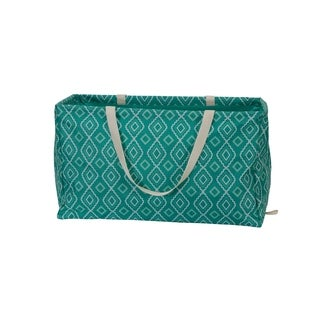 KRUSH CONTAINER Rectangle Tote Bag, Teal Diamonds