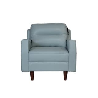 Isabel Full Leather Mid-century Chair