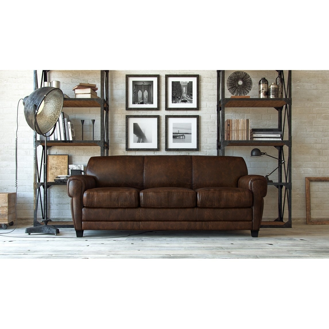 Full Top Grain Leather Sofa Furniture Compare Prices At Nextag ~ Full Top Grain Leather Sofa