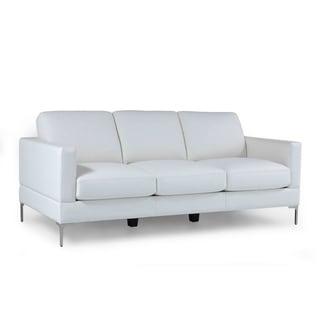 Tobia Full Leather Contemporary Sofa