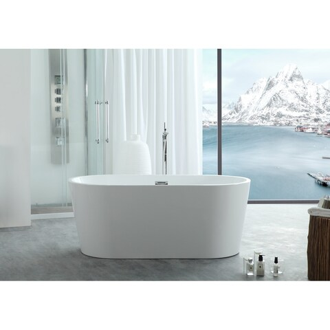 "Virtu USA Serenity 59"" Freestanding Soaking Bathtub Only"