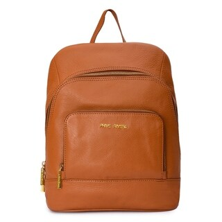 Women's Leather Backpack (Tan) - M