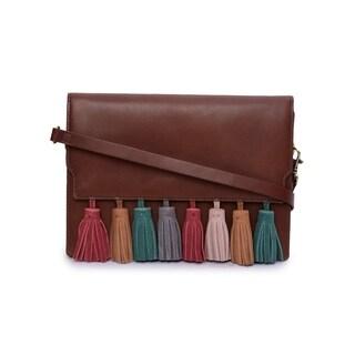 Phive Rivers Women's Leather Crossbody Bag (Dark Tan)