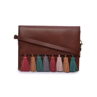 Phive Rivers Women's Leather Crossbody Bag (Dark Tan) - One size